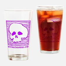 """Skull"" by Moonboybrand.com Drinking Glass"