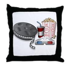 3D Cinema Throw Pillow