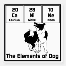"Elements of Dog Square Car Magnet 3"" x 3"""