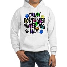 Crazy Portugese Water Dog Lady Jumper Hoody