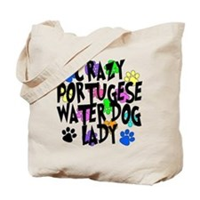 Crazy Portugese Water Dog Lady Tote Bag