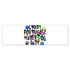 Crazy Portugese Water Dog Lady Bumper Sticker