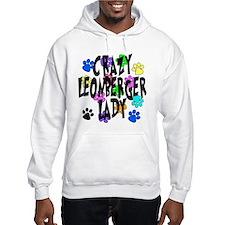 Crazy Leonberger Lady Hoodie