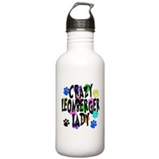 Crazy Leonberger Lady Sports Water Bottle
