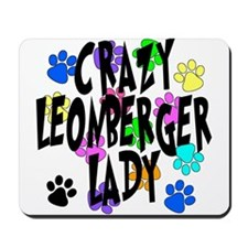Crazy Leonberger Lady Mousepad
