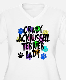 Crazy Jack Russell Terrier Lady T-Shirt