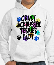 Crazy Jack Russell Terrier Lady Jumper Hoody