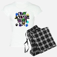 Crazy Jack Russell Terrier Lady Pajamas