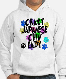 Crazy Japanese Chin Lady Hoodie