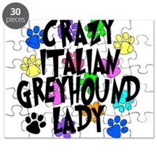 Crazy Italian Greyhound Lady Puzzle