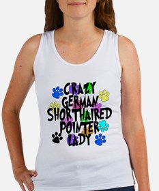 Crazy German Shorthaired Pointer Lady Women's Tank