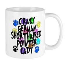 Crazy German Shorthaired Pointer Lady Small Mug