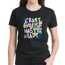 Crazy English Mastiff Lady Tee