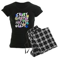 Crazy English Mastiff Lady Pajamas