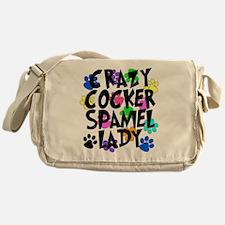 Crazy Akita Lady Messenger Bag