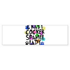 Crazy Akita Lady Bumper Sticker