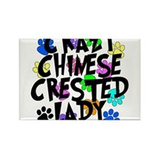 Crazy Chinese Crested Lady Rectangle Magnet