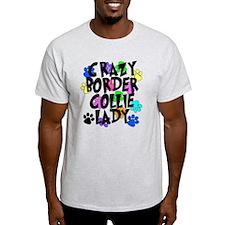 Crazy Border Collie Lady T-Shirt