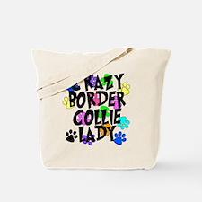 Crazy Border Collie Lady Tote Bag