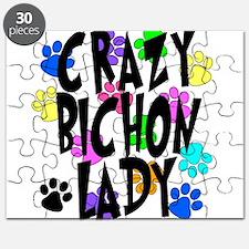 Crazy Bichon Lady Puzzle