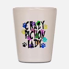 Crazy Bichon Lady Shot Glass