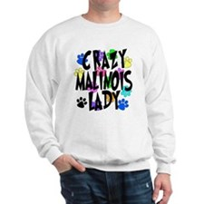 Crazy Malinois Lady Sweatshirt