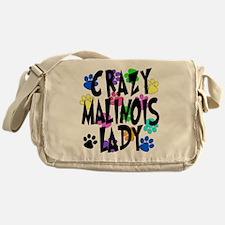 Crazy Malinois Lady Messenger Bag