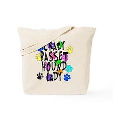 Crazy Basset Hound Lady Tote Bag