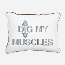 DIG MY MUSCLES (large design) Rectangular Canvas P