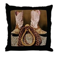 Cute Cowboy Throw Pillow
