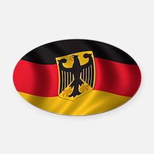 Flag of Germany Oval Car Magnet