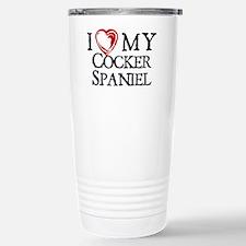 I Heart My Cocker Spaniel Travel Mug