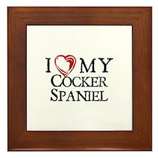 I Heart My Cocker Spaniel Framed Tile