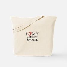 I Heart My Cocker Spaniel Tote Bag