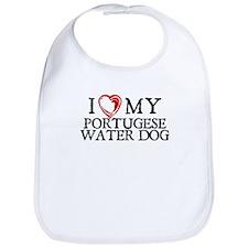 I Heart My Portugese Water Dog Bib