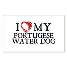 I Heart My Portugese Water Dog Decal