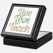 Live Love Teach Keepsake Box