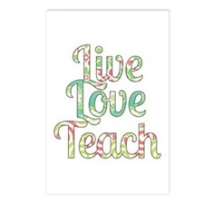 Live Love Teach Postcards (Package of 8)