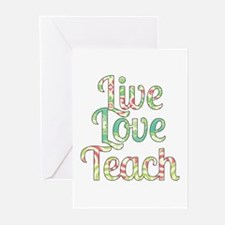 Live Love Teach Greeting Cards (Pk of 20)
