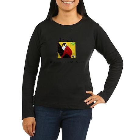 Repulse Monkey Black letters Long Sleeve T-Shirt
