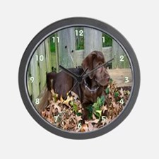 Brown Lab Puppy Wall Clock