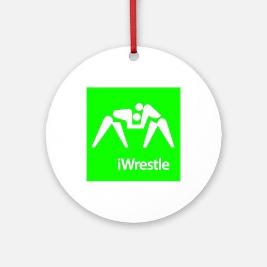 iWrestle Ornament (Round)
