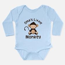 Oma Grandma Monkey Long Sleeve Infant Bodysuit