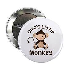 "Oma Grandma Monkey 2.25"" Button"
