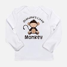 Grandma Grandchild Monkey Long Sleeve Infant T-Shi