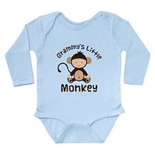 Grammy Grandchild Monkey Long Sleeve Infant Bodysu