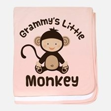 Grammy Grandchild Monkey baby blanket