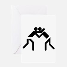 Grapple Silhouette Greeting Card