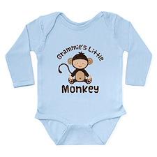 Grammie Grandchild Monkey Long Sleeve Infant Bodys