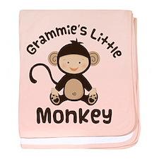 Grammie Grandchild Monkey baby blanket
